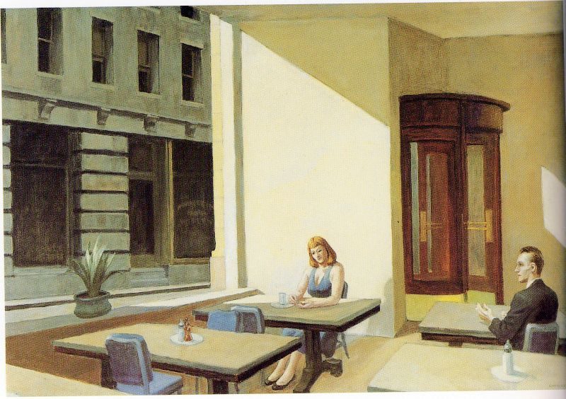 Edward Hopper Sunlight in a Cafeteria 1958
